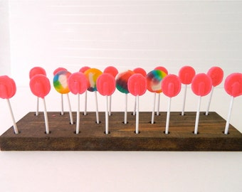 Cake Pop Stands + LolliPop Stands + 20 Pop or 10 Pop or 5 Pop + Rustic Wood Pop Stand + Set of 3