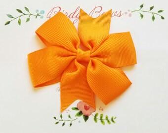 Orange Bow Clip, Baby Headbands, Infant Headbands, Baby Girl Headbands, Infant Bow, Baby Bow, Girl Bow,Girl Headbands