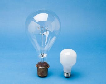 Giant Mogul Base Light Bulb - GE 620w 120v Airport Group Replacement Bulb - Industrial Lighting - Very Steampunk