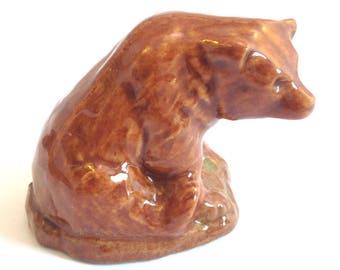 Wade Whimsie Whoppa: Brown Bear Figurine - 1976-81 - Wade Bear - Whimsie Bear - Wades - Wade Whimsies - Wade Figurines - Wade Whoppas