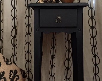 SOLD  Vintage Hand Painted Shaker Style Table Annie Sloan Shipping Not Included