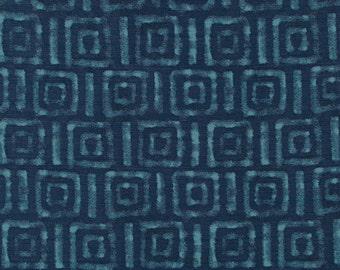 Blue Batik Upholstery Fabric - Modern Navy Blue Greek Key Fabric for Furniture - Dark Blue Custom Geometric Pillows - Greek Key Home Decor