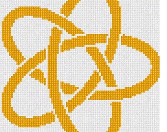 Needlepoint Kit or Canvas: Celtic Knot 8