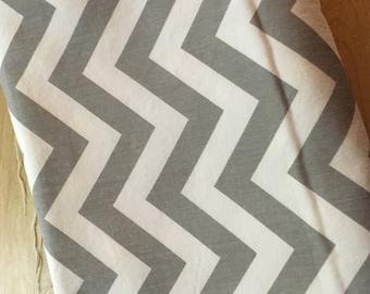 Gray & White Chevron Home Decorator Fabric