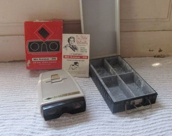 Bi-Lens 35mm Slide Viewer with Light and Zepher Duofile Box