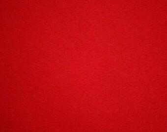 """Red Felt Fabric 72"""" Wide Per Yard"""