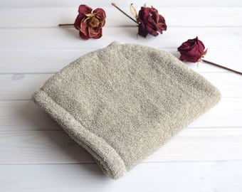 Natural linen hair drying towel, wrapping turban for wet hair, Linen hair turban, Hair towel, Hair turban, Turban towel, Hair Drying Towel