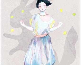 "A5 A4 A3 Art print ""kiki"" Izumi (Kinu serie) (limited edition)"