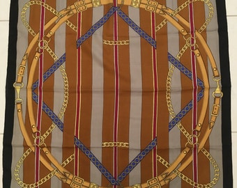 """Vintage Scarf Made in Italy Trendy Fashion 30"""" x 30"""""""