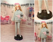 "pajamas ""Manon"" for barbie doll"