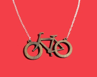On Your Bike! wooden bicycle necklace… ready for the Tour de France