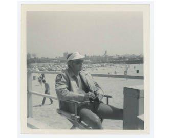 Vintage Snapshot Photo: Lifeguard, Santa Monica Beach, 1970 (75579)