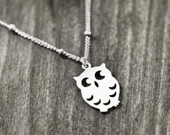 LITTLE OWL necklace with owl | silver