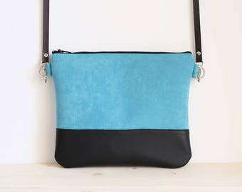 Turquoise crossbody bag, turquoise bag, blue shoulder bag, blue little clutch bag - Sea