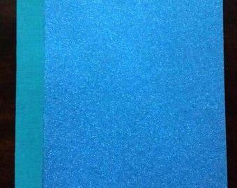 Blue Shimmer softback journal