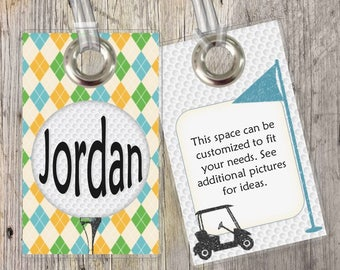 Golfing - Sports - Custom Tags for Backpacks, Luggage, Diaper Bags & More!