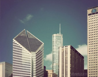 Chicago photography, fine art print, Illinois, architecture, Chicago skyline, Chicago art - Diamonds in the Sky