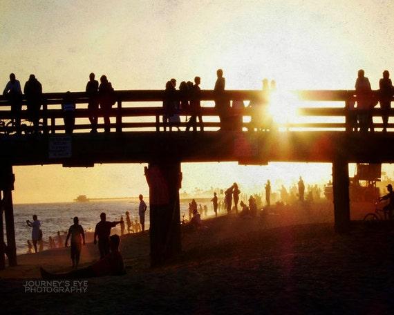 Clearance sale - California photograph, beach decor, nautical, landscape photo, Newport Beach, fine art - The Pier
