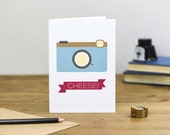 Blank Cheese Camera note Card