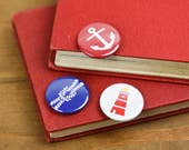 Nautical knot anchor lighthouse Pin Badge Button pack