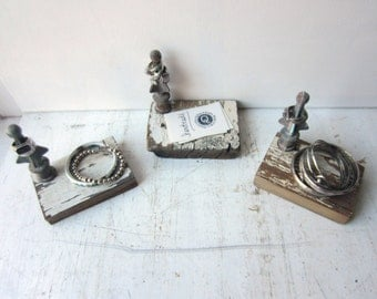 Ring Fence Finial Display - Ring & Bracelet Display - Chippy White Architectural Salvage - Quantities READY to SHIP