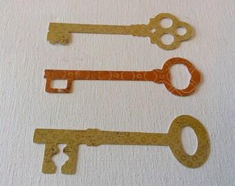 Key paper die cuts cut outs