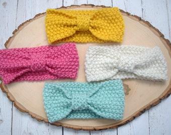 Girl Knit Wool Headband, baby headbands, wool headbands, baby girl wool headband, infant beadband, infant wool headband