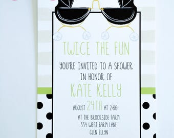BABY SHOWER Invitations for TWINS!