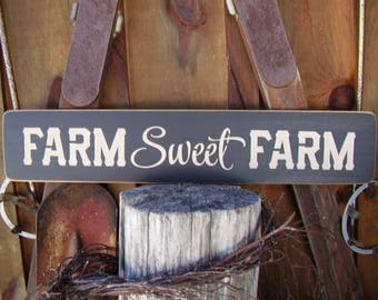 Farmhouse Decor, Farmhouse Sign, Farm Sweet Farm, Farmhouse Wall Decor, Farm Sign, Farmhouse Kitchen Decor, Rustic Farmhouse, Wood Signs