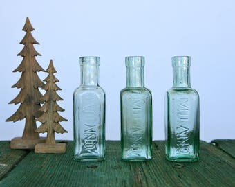 Vintage pharmaceutical bottles from Milan