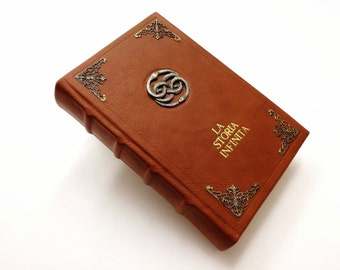 La Storia Infinita - Michael Ende - Neverending Story -  Cosplay, Leather Book, Illustrated - Auryn