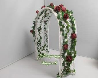 1/12th dollhouse miniature  Garden Rose Arch