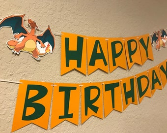 Pokemon Birthday Banner. Party Decoration. Photo prop