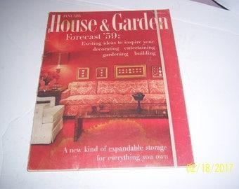 January 1959 House & Garden Magazine Living Room Couch Furniture Paper Ephemera