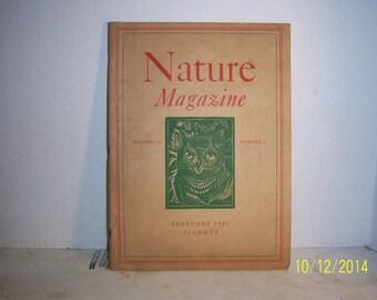 1941 February Nature Magazine 35 Cents Number 2