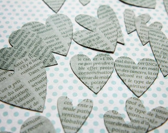Hearts made hand style paper gift tags