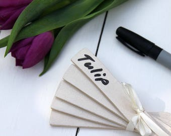 Blank Plant Markers Gift Set and Pen