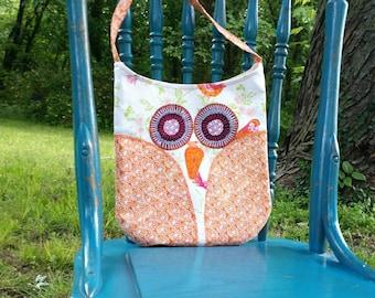Owl Purse, Orange Owl Purse, Childs Purse, Owl Tote, Childrens Bag