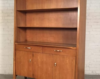 John Van Koert For Drexel Profile Mid-Century Modern China Cabinet / Bookcase - SHIPPING NOT INCLUDED