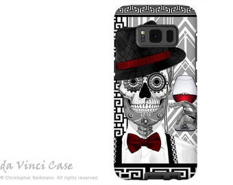 Samsung Galaxy S8 PLUS Case - 1920's Dia De Los Muertos Galaxy S 8 PLUS Case with Black and White Skull Art - Day of the Dead Tough Case