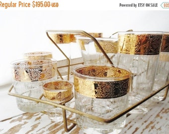 ON SALE 1950's Mid Century Culver Tyrol Barware Set