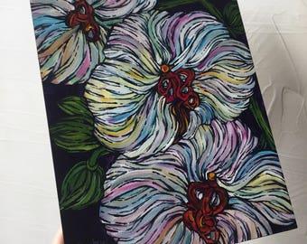 Pastel Orchids original painting