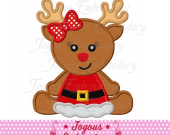 Instant Download Christmas Reindeer Baby Applique Machine Embroidery Design NO:2230
