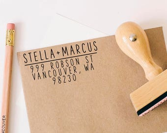 Return Address Stamp, Self-Inking Stamp, Personalized Address Stamp, Calligraphy Address Stamp, Custom Address Stamp, Housewarming Gift