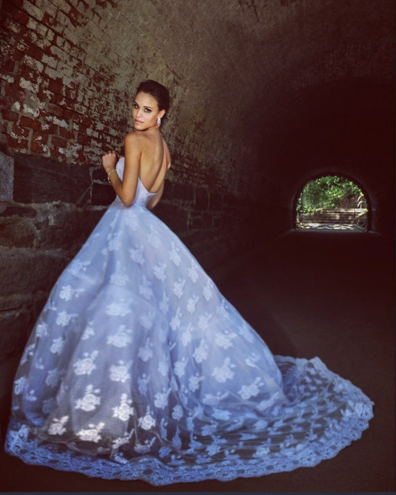 Irina Shabayeva Lace Applique gown. Comes in custom colors ..