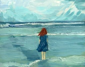 Out to Sea - limited edition giclee print of an original oil painting