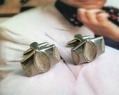 SALE - 25% OFF Vintage Cufflinks - Vintage Cuff Links - Silver Tone Cufflinks - Silver Cuff Links - 1970s Cufflinks - Gift for Him - Men's G