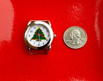 Christmas Tree Geneva Watch, Christmas Watch, Christmas Tree Geneva Watch Face Piece