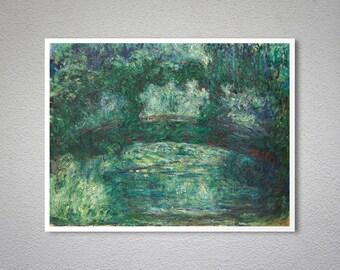 Le Pont Japonais by Claude Monet, 1908 - Poster Paper, Sticker or Canvas Print