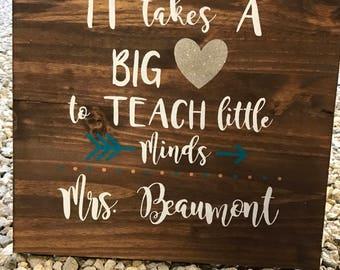 16x20 Teacher Sign